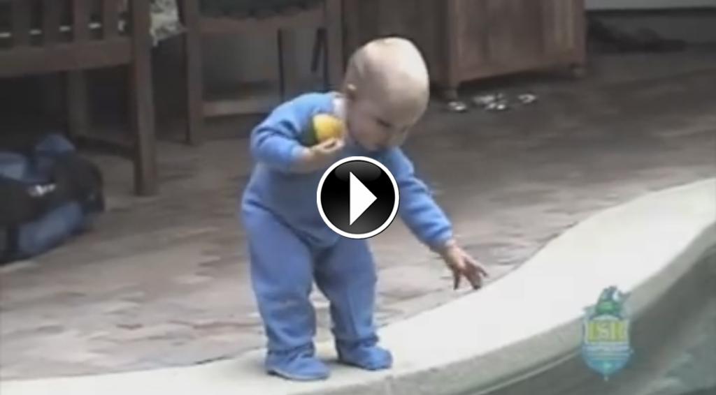 Beb de 11 meses salta para a piscina e o que acontece a for Piscinas bebes
