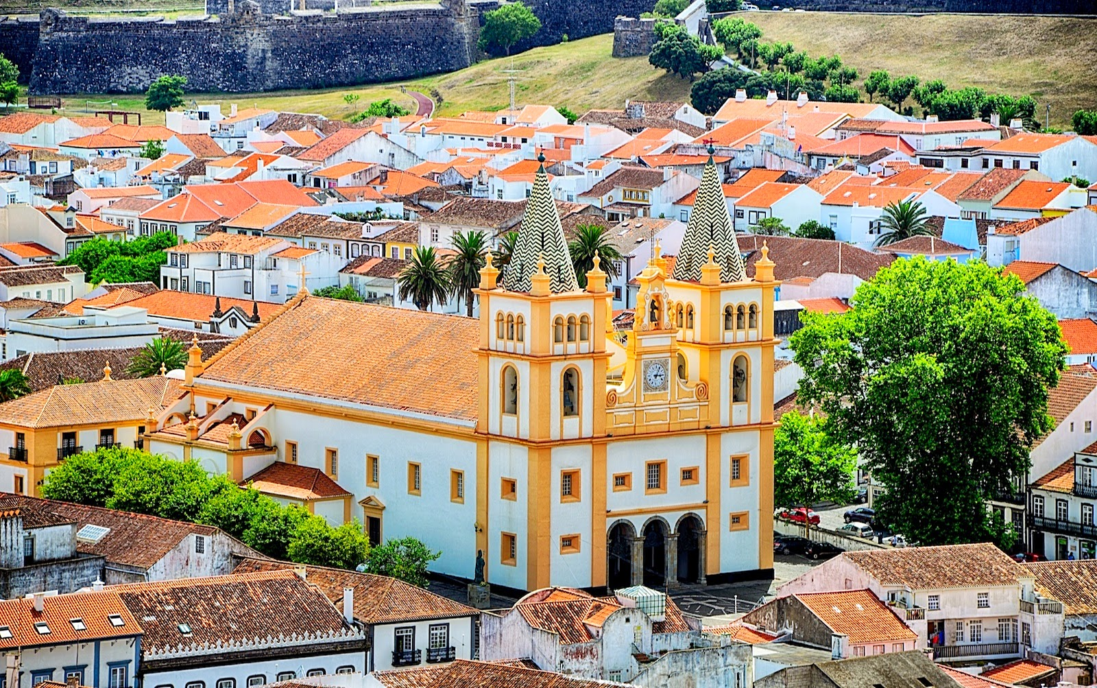 The main church, better known as Sé Cathedral of Angra do Heroísmo, Terceira Island, Azores, Portugal